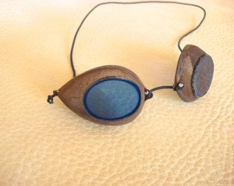 Steam Punk Goggles Handmade Cobalt Blue