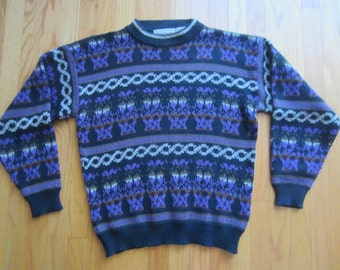 Vintage 80s 90s Ugly Sweater Pattern Cosby Mcgregor