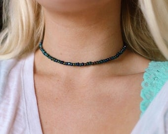 Mermaid Gypsy holographic choker necklace