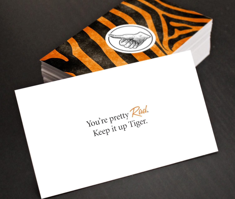 Gag Gift Cards Rad Tiger Funny Hilarious Joke Business