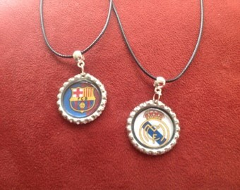 10 soccer  Barca  or Real Madrid necklaces. Fast shipping from USA