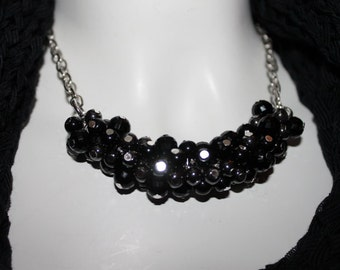 Pearl Necklace black, chain black pearls, Black Pearl necklace, necklace black, Black Pearl necklace, black necklace