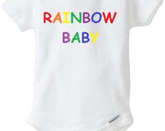 Baby baby bodysuit, Rainbow Baby, Baby bodysuit, Baby Girl Clothes, Rainbow bodysuit, Baby Shower Gift,