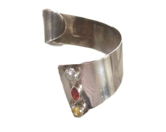 Sterling Silver Mexican Cuff Bracelet - 20 century- From Estate