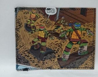 ninja turtles soldier recycled comic book wallet - slim wallet - hanmade wallet - card holder - thin wallet - unisex wallet - men's wallet