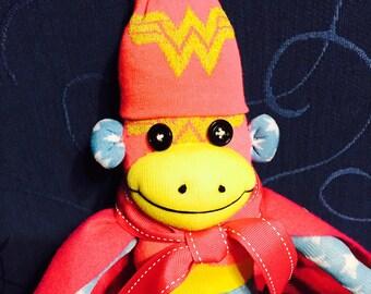 Super Woman Sock Monkey
