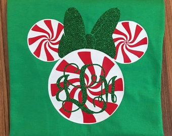 Peppermint Mouse Monogram