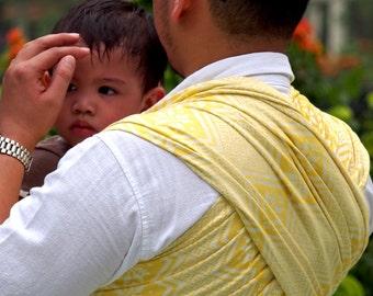 Woven Baby Wrap Sling Daiesu Octagram Buttercup