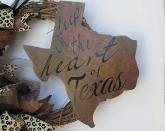 Rustic Texas Wreath, Deep in the heart of Texas Wreath,Rustic Grapevine Texas Wreath, Grapevine Rustic Texas Wreath