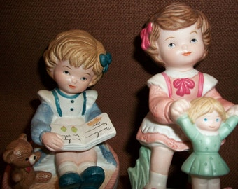 Homco Little Girl Porcelain Figurines