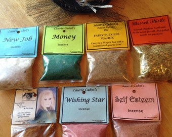 Collectible Item! Bulk Sale of incense and magickal items from former shop: The Cat, the Crow and the Crown in Salem, MA