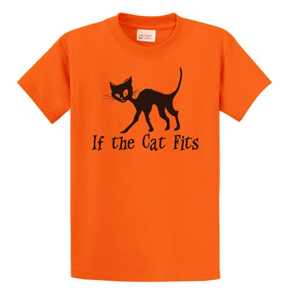 If the Cat Fits T-Shirt - Halloween Witch