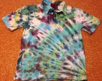 Women's Size Small Tie Dye Shirt With Collar