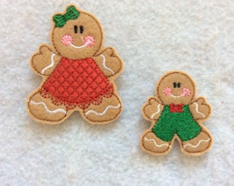 Gingerbread Girl Feltie, Gingerbread Boy Feltie, You Choose, always Precut