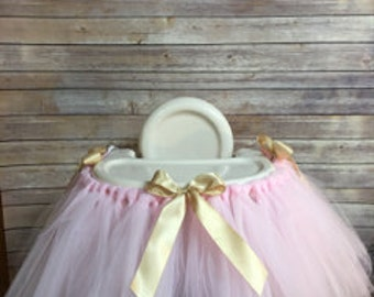 Princess Pink and Gold High chair Tutu