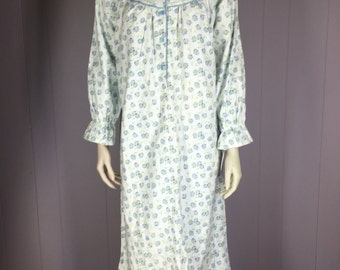 Vintage Flannel Nightgown Etsy