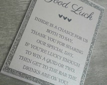 Scratch Card Holders Lottery Ticket Holder Wedding Party Favours Wedding Gifts Glitter favours