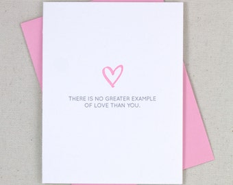 No Greater Example of Love - Letterpress Card
