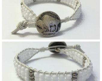 Men's Beaded Wrap Bracelet