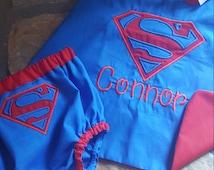 Superhero Cake Smash Outfit;Superhero Diaper Cover and Cape Set; Superman Cake Smash; Superman Cape and diaper cover