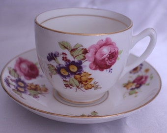 China tea cup and saucer - Duchess Fine Bone CHina  Made in England High Tea