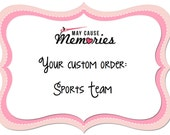 CUSTOM Planner Stickers: Your Choice SPORTS TEAM!