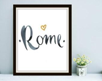 Travel Series: Rome - Italy, Rome Italy, Italy Art, Italy Print, Italy Prints, Wanderlust, Rome Print, Rome Art, Rome Prints, Travel Art