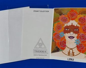 LIBRA - Zodiac Greeting Card - 5X7