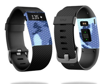 Skin Decal Wrap for Fitbit Blaze, Charge, Charge HR, Surge Watch cover sticker Blue Camo