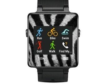 Skin Decal Wrap for Garmin Vivoactive Forerunner Watch cover sticker Zebra