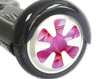 Skin Decal Wrap for Hoverboard Balance Board Scooter Wheels Flowers