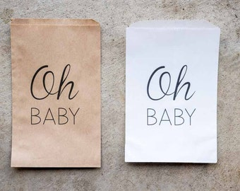 Baby Shower Favor Bags - Oh Baby Bags