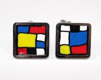 Cufflinks Piet Mondrian