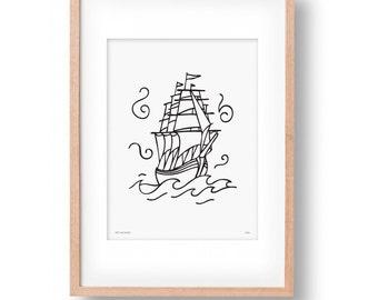 Pirate Ship Wall Art Print