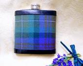 Tartan hip flask Isle of Skye plaid Scottish gift for men made in scotland retirement gift,  best man usher or groomsman ideal for christmas