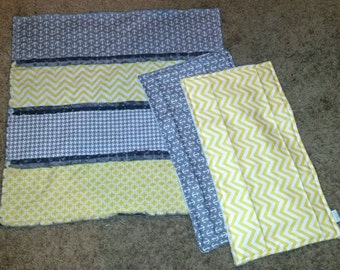 Gender Neutral Snuggle Rag Quilt, Security Blanket, Anchirs & Chevron