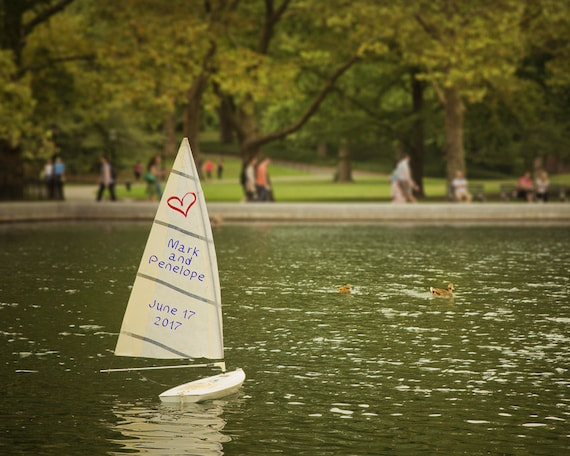 Unique Wedding Gifts Nyc : Personalized Wedding Gift New York City Central Park Toy Sailboat ...
