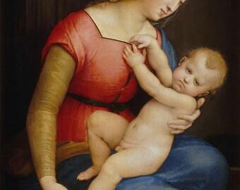 Raphael: Madonna d'Orleans. Fine Art Print/Poster. (001935)