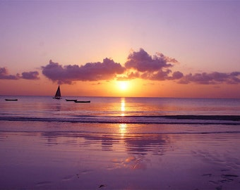 Photography Print - Sunset Print - Diani Beach Sunset - Fine Art Print
