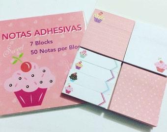 Cupcake Sticky Notes Set