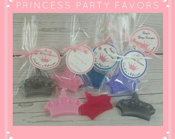 Princess Birthday Party Favors - Baby Shower Soap Party Favors also for Diaper Party or Baby Sprinkle, Custom Color & Scent   Pack of 10