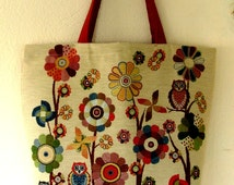 Owl Trees Tote Bag, iPod Tote, Beach Bags Totes, Red Hand Bag, Flowers Tot Bags, Great Gifts for Birthday.