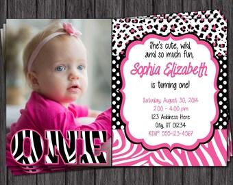 Zebra Birthday Invitation
