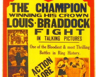 Boxing 1937 Joe Louis vs James J. Braddock Poster - Free shipping