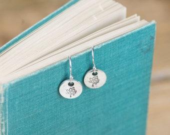 Fine Silver Tree Earrings - Silver Tree Earrings - Tree Charm Earrings - Silver Tree Charms - Fine Silver Earrings - Tree Drop Earrings