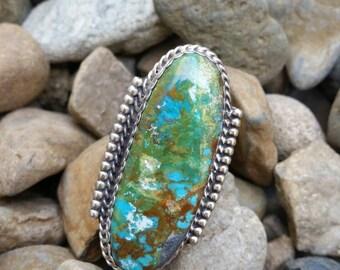 Beautiful Handmade Hidden Valley Turquoise Navajo Ring