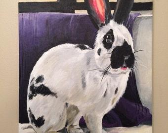 Custom Pet Painting Custom Pet portrait , large and extra large sizes