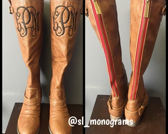 Monogram Riding Boots