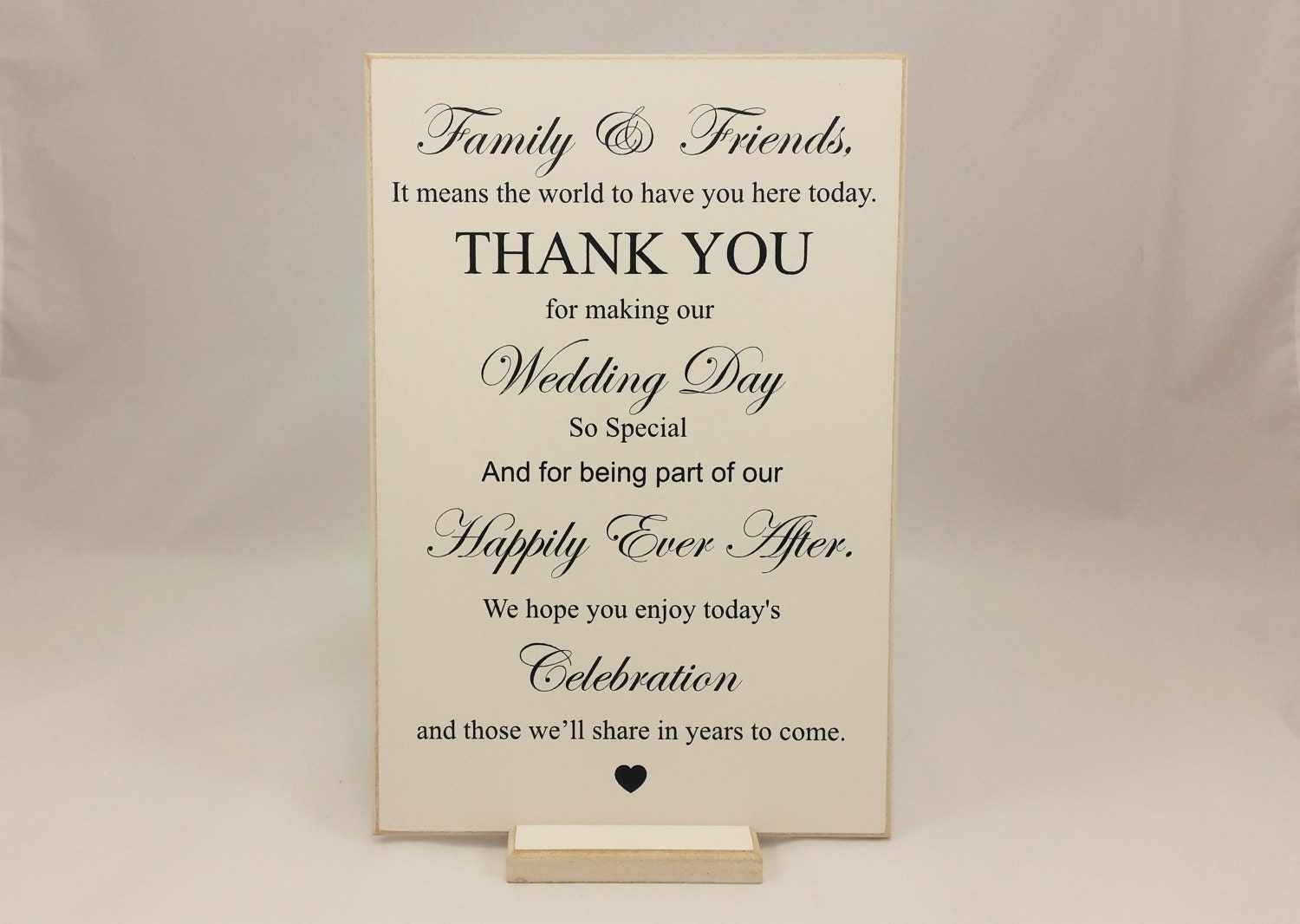 Wedding Gift Ideas For Close Friends: Wedding Sign Thank You Family And Friends Bride And Groom