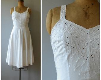 Iris dress • 1950s cotton sundress with eyelets